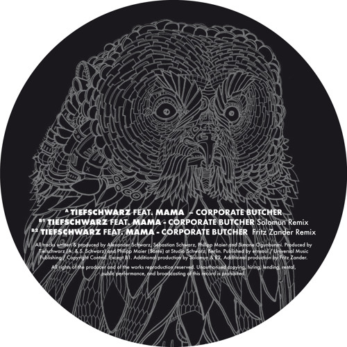 Tiefschwarz feat. Mama - Corporate Butcher (Solomun Remix)