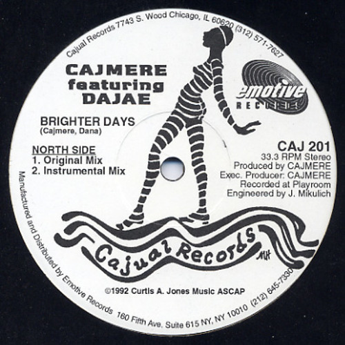 Cajmere feat. Dajae - Brighter Days (Carel's Underground Goodie Re-edit)