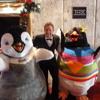 Jamie meets Happy Feet 2 cast