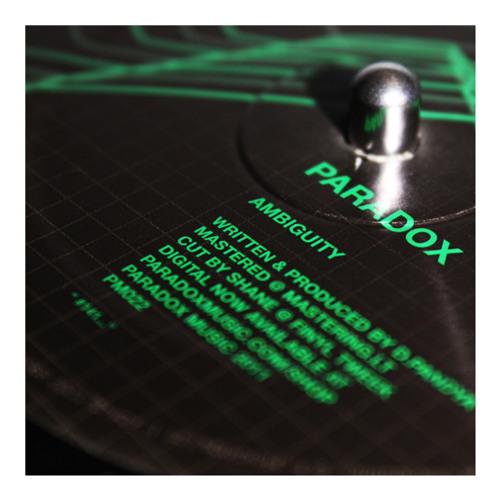 """Paradox - 'Ambiguity' (Paradox Music 12"""" 022)"""