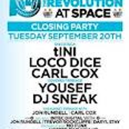 YOUSEF - LIVE @ SPACE IBIZA  - carl cox closing sept 20th 2011