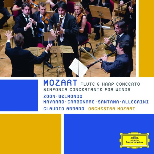 """Claudio Abbado and the Orchestra Mozart play Mozart's """"Concerto for Flute, Harp, and Orchestra"""""""