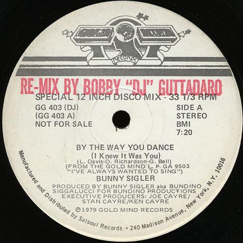 """Bunny Sigler -  By The Way You Dance (Bobby """"DJ"""" Guttadaro promo mix) 1979"""