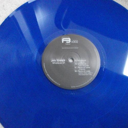 """12"""" 002 Jan Tenner - Whatever/Piece of Cake [Henry Gilles & Hans berg] Vinyl Only"""