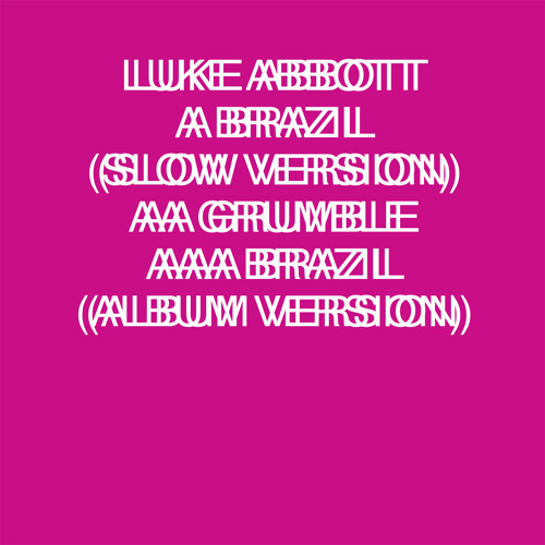 Luke Abbott - Brazil (Live on Tape)