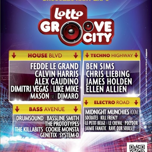Dimitri Vegas & Like Mike - Live @ GrooveCity Belgium ( 26/11/11 ) FIRST 17 MINUTES