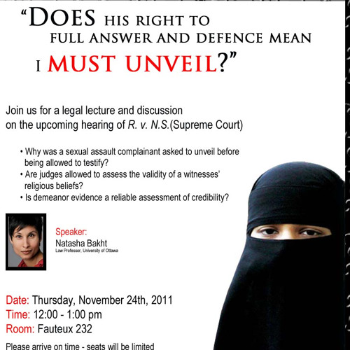 R. v. N.S. (Niqab while testifying) Lecture and Discussion