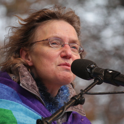 Angelika Claußen Auftaktkundgebung 03.12. Demo Bonn