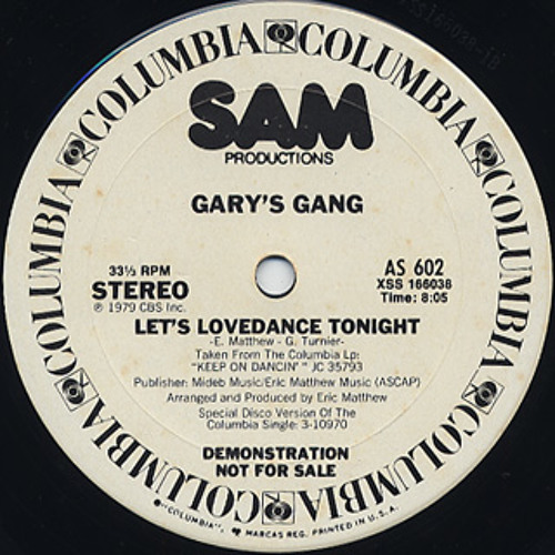 Let's Lovedance Tonight/Gary's Gang - Lovedancing Dubb