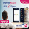 Internet Mobile 1GO à 9DT/7jours