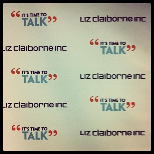 Liz Roberts - Liz Claiborne :  Talkers 'It's Time to Talk'