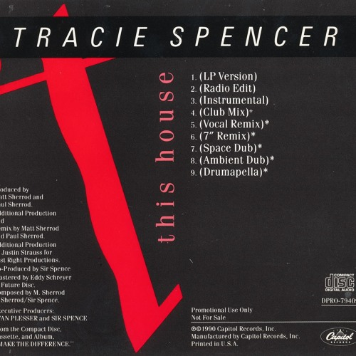 """Tracie Spencer - """"This House"""" - Justin Strauss Ambient Dub Mix"""