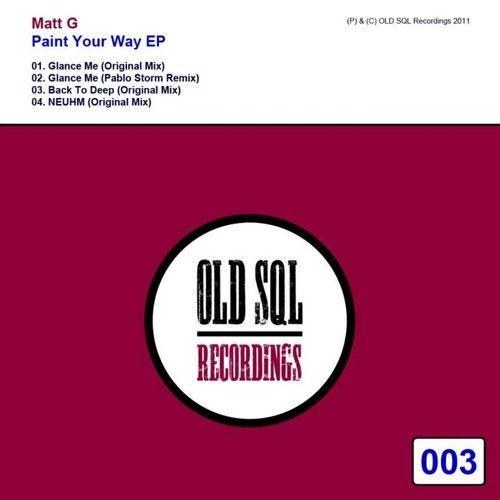 Matt G. - Back To Deep (Original Mix) [OLD SQL]