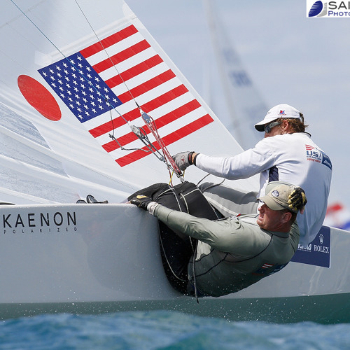 Mark Mendelblatt and Brian Fatih Dec 17 after medal race ISAF Worlds