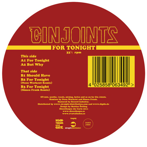 Teq05 B2 Gin Joints - For Tonight Neon Workout Remix