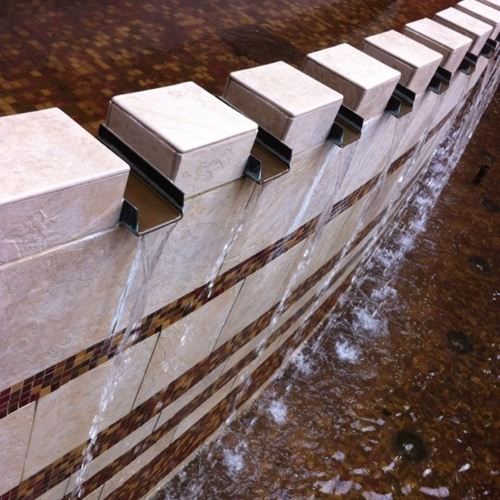 1-minute waterfall audio in @downtownseattle. at Harbor Steps Apartments