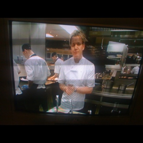 Gordon Ramsay Christmas Special - The first time I've seen him cook. Is it me or does he sound like an awkward aerobics commentator? I just wanna laugh, he is no doubt a great cook but public speaking, erm...