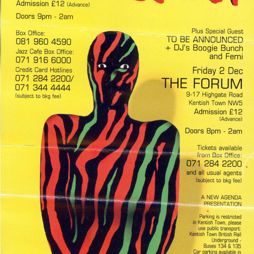 A Tribe called Quest 'Midnight Marauders' live Subterania 2.12.94 London UK