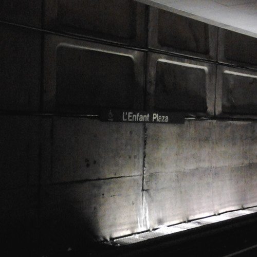 Metro Train Taking Off at L'Enfant Plaza Station
