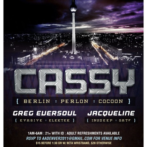Greg Eversoul Live @ PM/AM w/ Cassy - 12-9-11