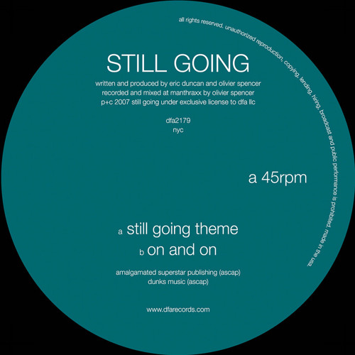 "Still Going ""On And On"" (DFA Records)"