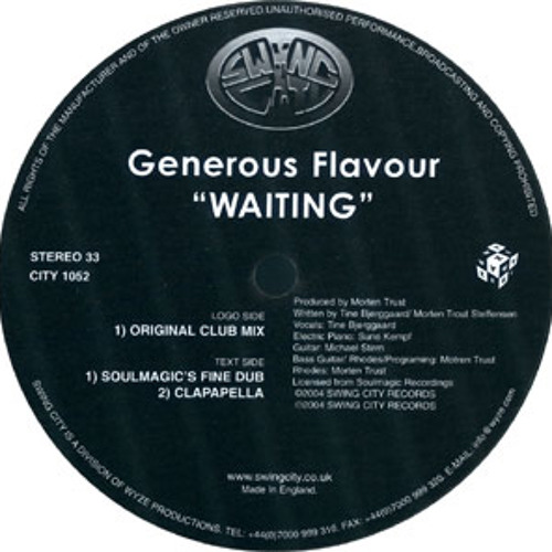 Generous Flavour vs Deep Inc - Waiting Nights (Carlos Vargas Private Mash-Up Edit)
