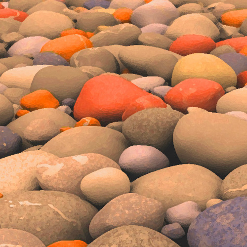 Sun warmed stones