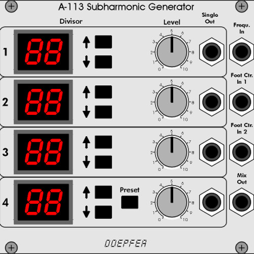 Doepfer Trautonium Subharmonic Generator Demo
