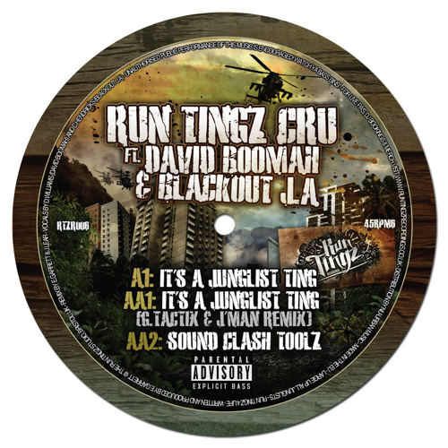 RTZR006A - Run Tingz Cru ft-1. David Boomah & Blackout J.A - It's a Junglist Ting (Original) - CLIP