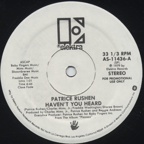 Patrice Rushen - Haven't you heard ( Mikeandtess boot edit )