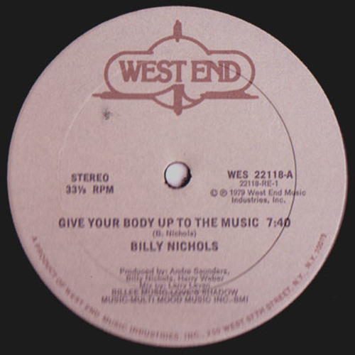 Billy Nichols - Give Your Body Up To The Music (popcornreborn edit) 320 Free DL