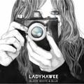 Ladyhawke Black, White & Blue Artwork
