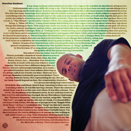 Homeboy Sandman - Subject Matter OUT NOW
