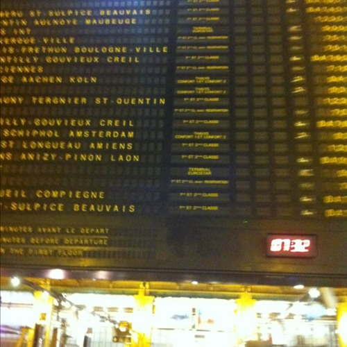 Waiting at Gare du Nord