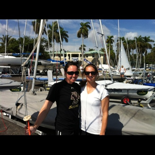 2011 Development Team members Anne Haeger ad Briana Provancha On A Wild Day 4 at U.S. Sailing Center