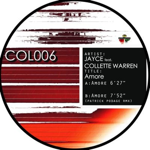 J.A.Y.C.E. - Amore feat Collette Warren (Patrick Podage Mix - Colours Audio - Out Now)