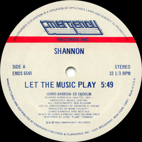 Shannon - Let The Music Play (popcornreborn Edit) 320 DL