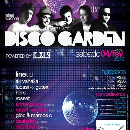 Gioc & Marcos C. @ Disco Garden powered by lo kik records 05.02.2012 *Free Download with TRACKLIST*