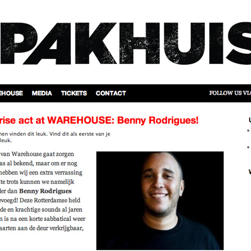 Benny Rodrigues @ WAREHOUSE, Westelijk Handelsterrein, Rotterdam (4-2-2012)