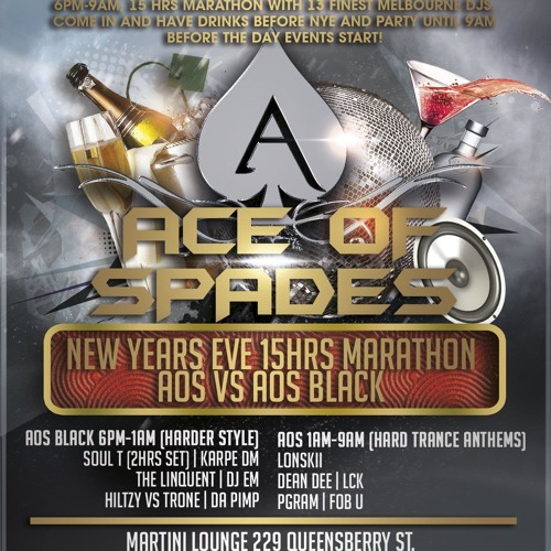 Ace of Spades Demo CD New Year Eve 2012