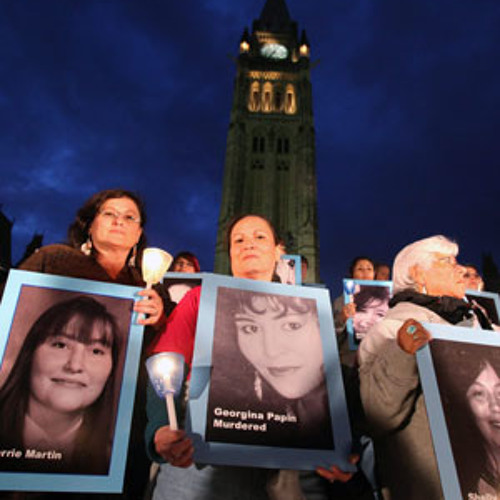 March for Missing and Murdered Women -Ellen Gabriel and Chad Diabo