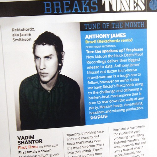 Anthony James - Brazil (Rektchordz Remix)**MIXMAG TUNE OF THE MONTH* Out Now!