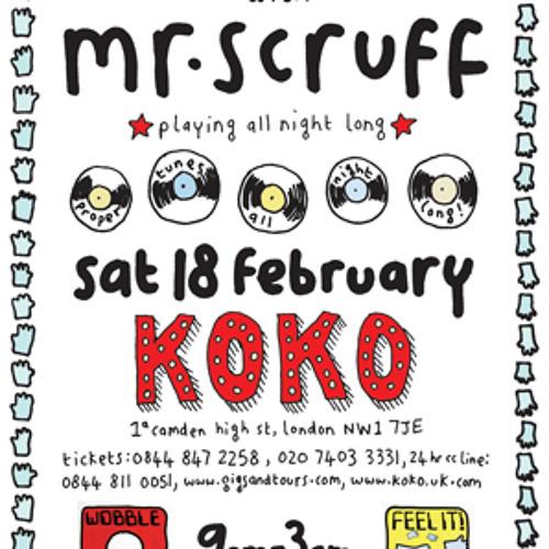 Mr Scruff live DJ mix from Koko, London, Saturday February 18th 2012