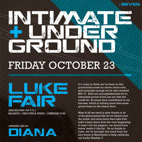 Luke Fair - INTIMATE & UNDERGROUND v7 - October 23, 2009 - Part 1
