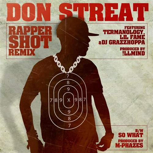 "Don Streat f. Termanology, Lil Fame & DJ Grazzhoppa ""Rapper Shot Remix"" (prod. by !llmind) [Dirty]"