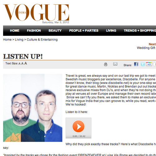 Discobelle Vogue India mix
