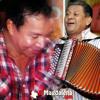 Diomedes Díaz cantando a dúo con Emilianito Zuleta en estudio de grabación Portada del disco
