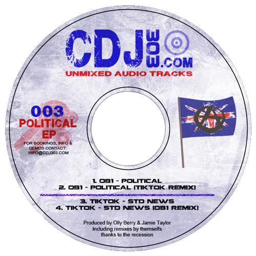 CDJ303.COM - Tik Tok - STD News / OB1 - Political (Tik Tok Remix) (http://cdj303.bandcamp.com)