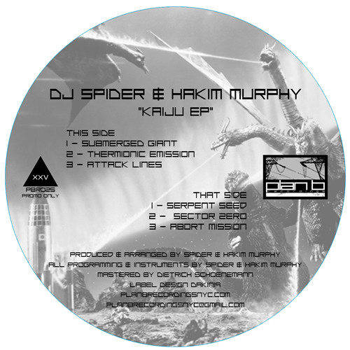 "6 clips from ""Kaiju EP"" - DJ Spider & Hakim Murphy (12"" vinyl only)"