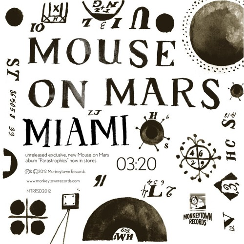"Mouse on Mars ""Miami"" (MONKEYTOWN) Ltd Record Store Day 2012 7inch"